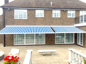 Remote control motorised awning supplied and fitted in Cheshunt