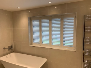 Beautiful Shutters Fitted In Bathroom